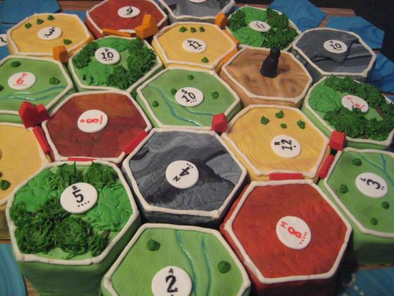 settlers of catan cake