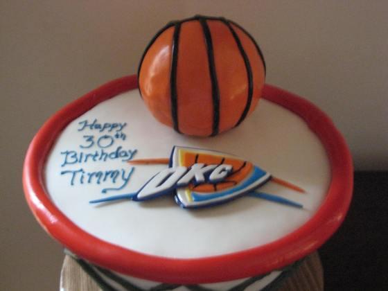 OKC thunder cake