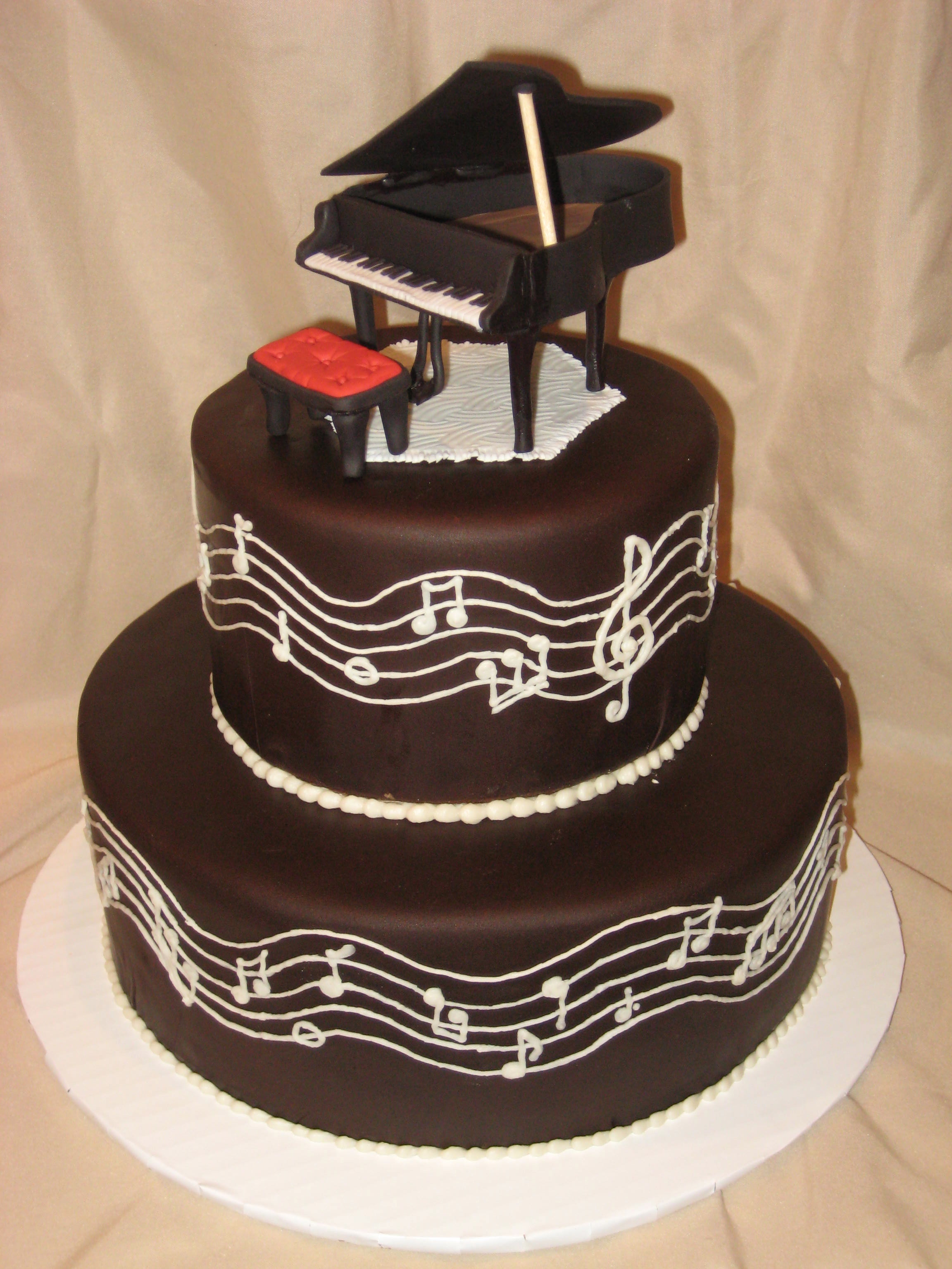 Happy Birthday Piano Cake