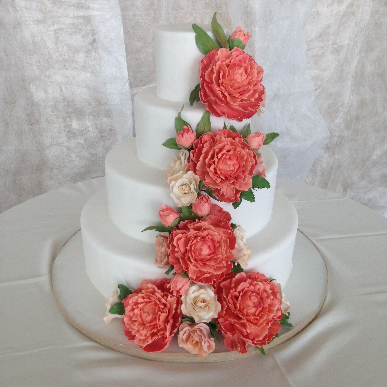 Peony Wedding Cake Saveyourforkcakes - Peony Wedding Cake