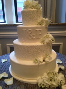 Paisley wedding cake